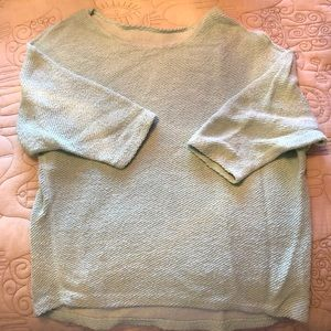3/4 Mint Woven Sweater from American Apparel